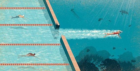 swimming pool, sea, bundaries, freedom.j