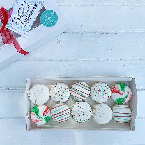 Christmas Macaron Box - Small