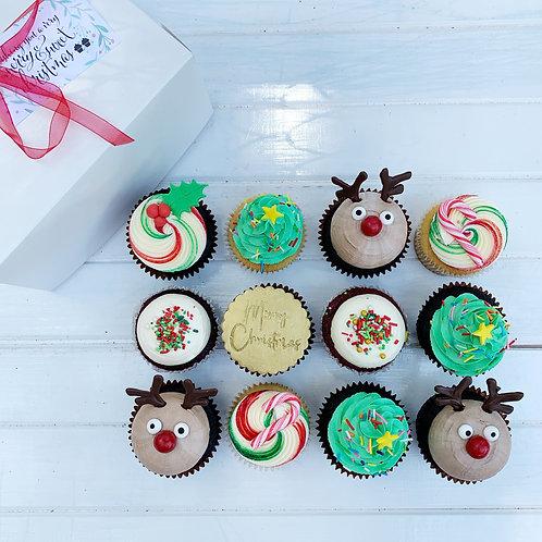Christmas Cupcakes - Box of12