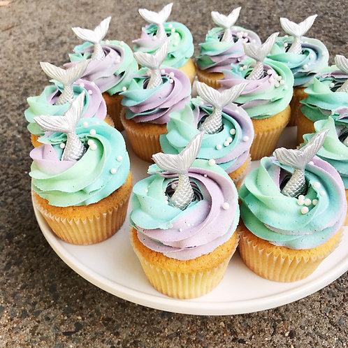 Custom Mermaid Cupcakes