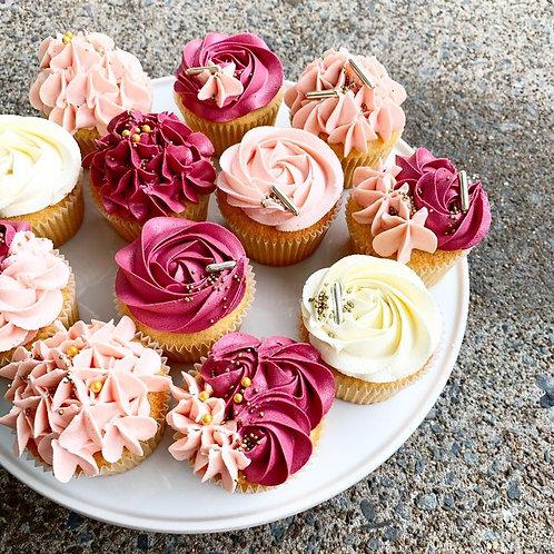 Custom Piped Buttercream Cupcakes
