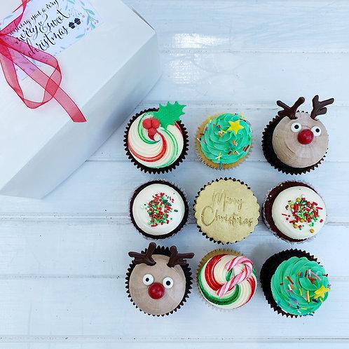 Christmas Cupcakes - Box of 9