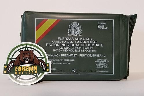 Spanish Military Breakfast Ration Menu 2