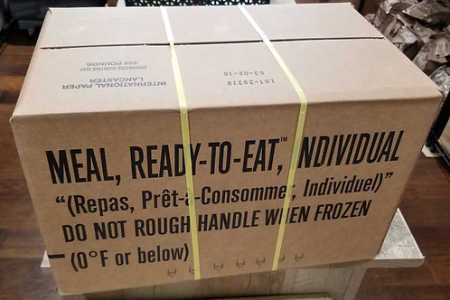 One Case - US Military MREs