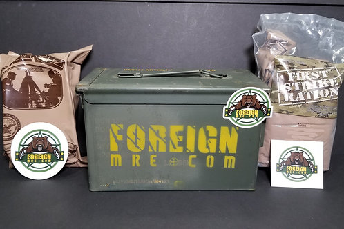 Large Ammo Can Gift Box - First Strike + US MRE RANDOM SELECTION