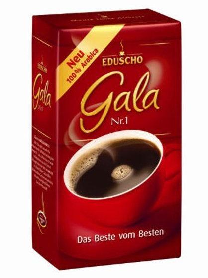 2 Packs Eduscho Gala Nr. 1 Ground Coffee