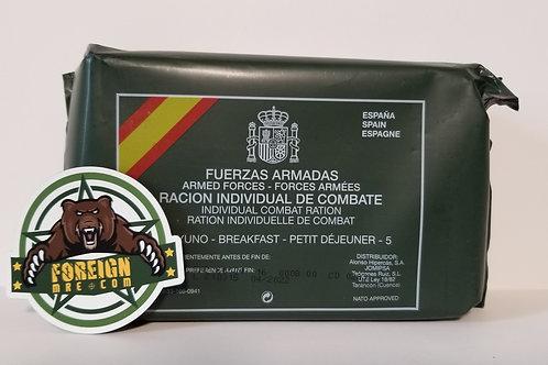 Spanish Military Breakfast Rations Menu 5