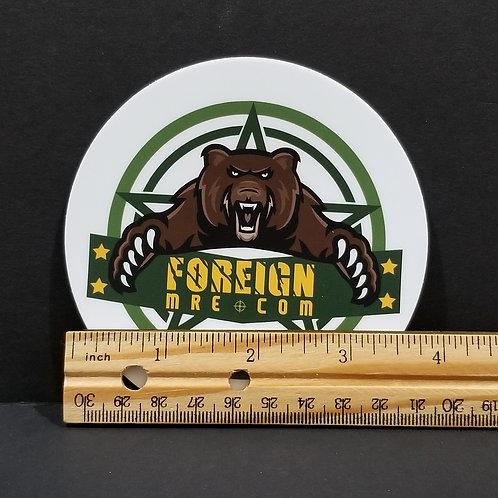 """ForeignMRE.com 4"""" Sticker"""