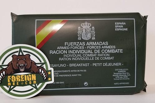 Spanish Military Breakfast Ration BB Date 4/2021