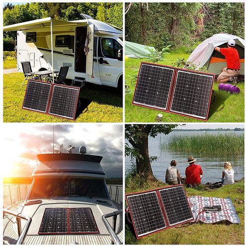 DOKIO 80 Watts 12 Volts Monocrystalline Foldable Solar Panel