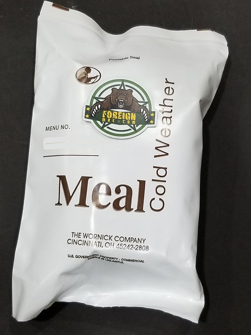 US Military Cold Weather MRE - 12 Different Menus