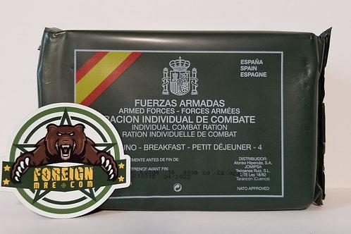 Spanish Military Breakfast Rations Menu 4