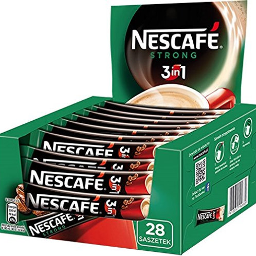 Nescafe 3 in 1 Strong Instant Coffee Single Packets