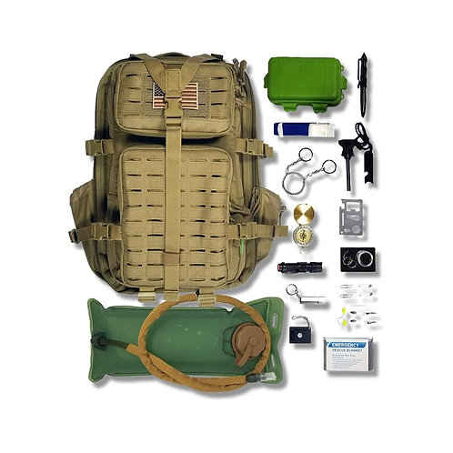 Tactical Backpack + Hydration Bladder