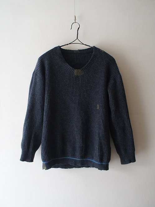 "1950's ""Swedish Military"" Vneck Sweater"