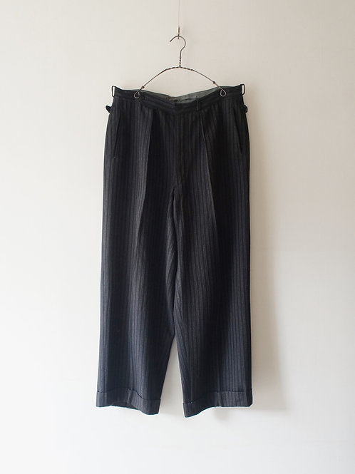 1930-40's French Work Black Stripe Trousers
