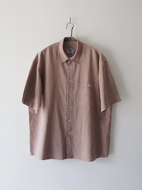 1970-80's French S/S linen shirt