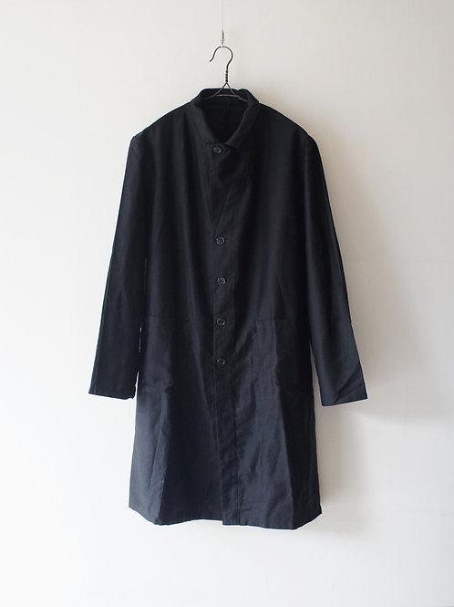 """1980's """"Italian Military"""" Black Satin Coat Custom -Deadstock-"""