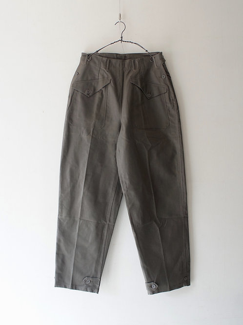 "1950's ""Swedish Military"" Twill Trousers -Deadstock- -size 42-"
