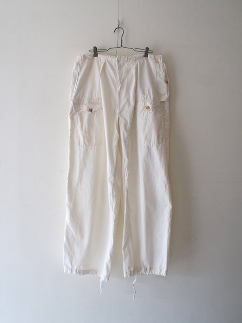 "1950's ""French Military"" Alpine cotton linen over pants -1-"