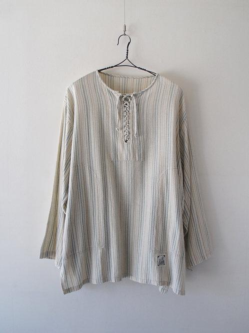 Thailand Lace up stripe shirt