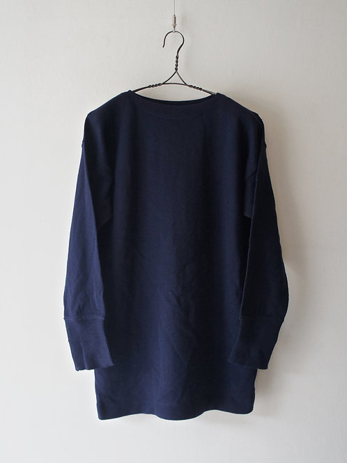 "1990's ""Italian Navy"" Boatneck Sweater -size L-"