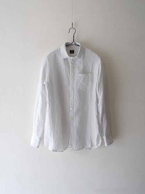 """""""Django Atour"""" Linen easy shirt -snow white- -size L-"""