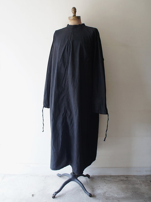 """1960's """"Czech Military"""" Surgical Gown -Black-  B(胸ポケット有)"""