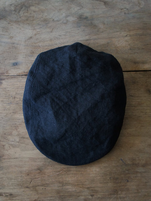 """TREATY HATS"" Linen hunting cap -Black- -size M-"