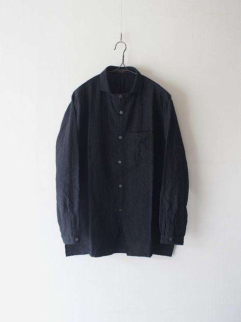 """Django Atour"" classic frenchwork premium linen shirt -size M-"