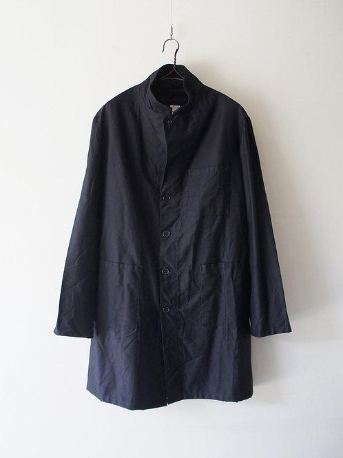 """1980's """"Italian Military"""" Black satin coat -Deadstock-"""