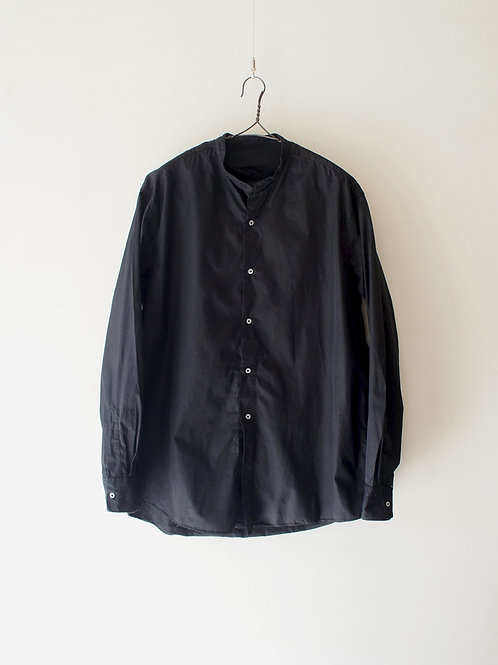 "1960's ""Italian Military"" Stand Collar Shirt -Black-"