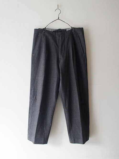 1940-50's Black Chambray Wool Trousers