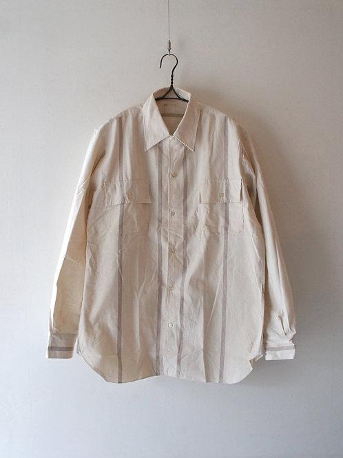 """1960-70's """"Italian Military"""" Prisoner shirt -Deadstock- -size 4-"""