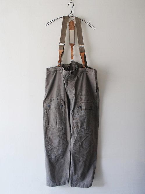 "1950-60's ""German Military"" Over pants & Suspender"