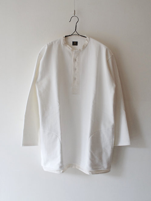 """Django Atour"" victorianswork sweat smock white -size LL-"