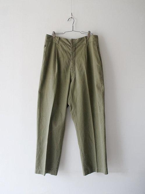 "1950's ""Italian Military"" Khaki chino trousers"