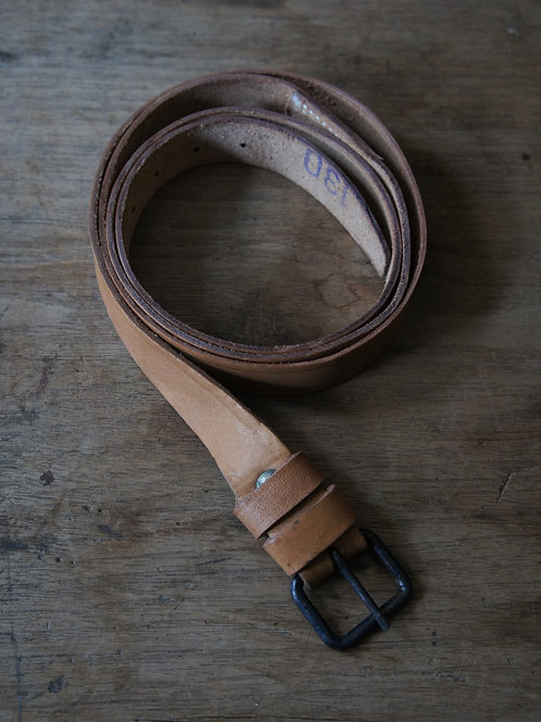 """Hungary Army"" Leather Belt -Deadstock-"