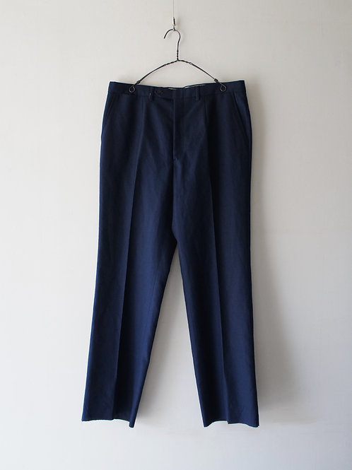 1970-80's Italy summer wool trousers -Deadstock-
