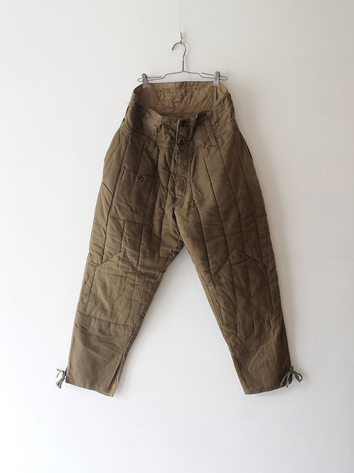 "1970's ""Russian Military"" Insulation Quilting Pants"