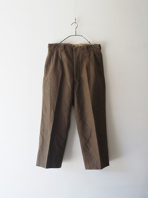 """1950's """"French Military"""" Wool Trousers"""