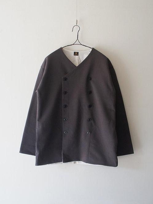 """""""Django Atour"""" classic volendam no-collar jacket -d.grey L-"""