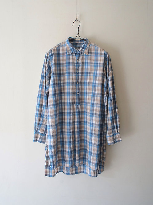 1940-50's French Grand Father Check Shirt