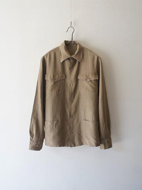 1950-60's German Linen Shirt Jacket