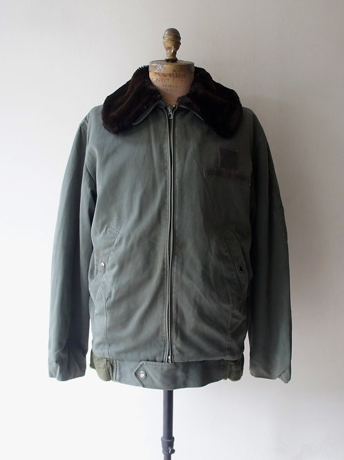"1980's ""French Military"" Flight Jacket -size 100L-"