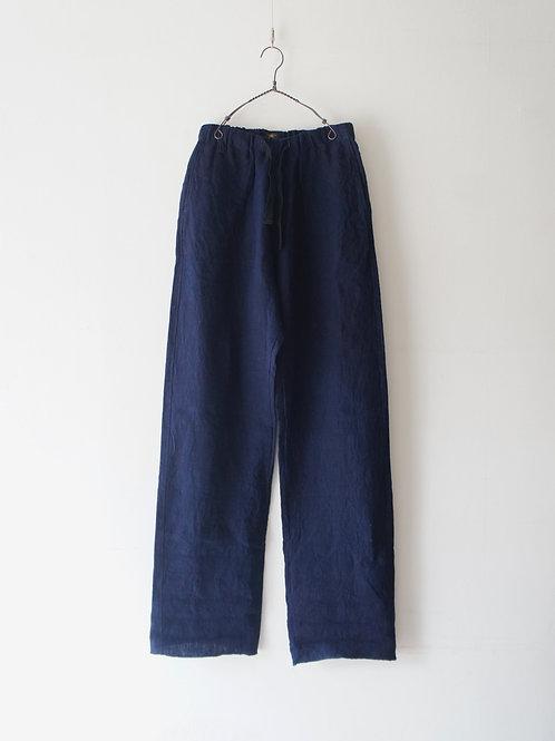 """Django Atour"" heavylinen easy pants -indigo- -size S-"