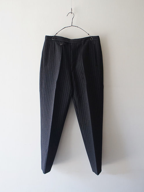 1940-50's French black stripe trousers