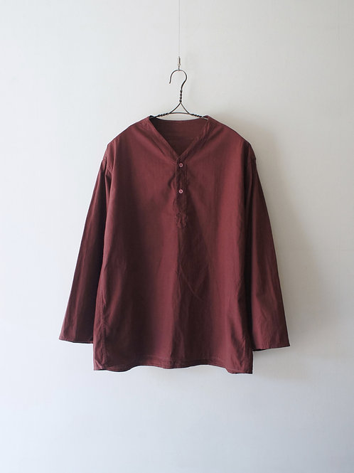 "1980's ""Russian Military"" Sleeping Shirt-Maroon- -size 46-"