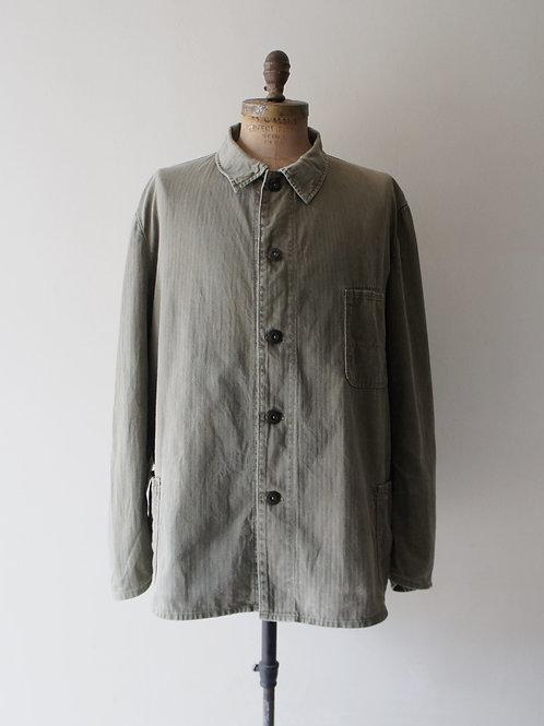 1960's German HBT olive work jacket