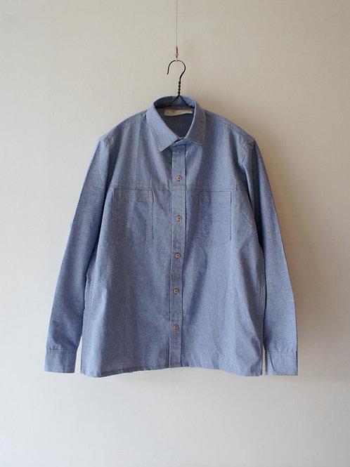 """1970-80's """"Italian Military"""" Prisoner shirt -Deadstock- -size 50-"""